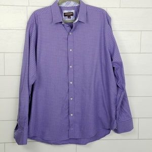 Johnston & Murphy Men's XL Purple Collared Shirt